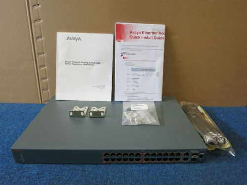 Avaya 3526T-PWR+ PoE 24 Port Ethernet Routing L3 Managed Switch AL3500A11-E6
